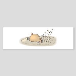 Hamster Digging Bumper Sticker