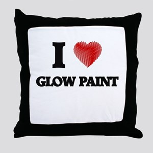 I love Glow Paint Throw Pillow