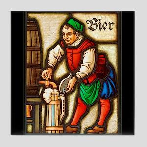 Bier Man Tile Coaster