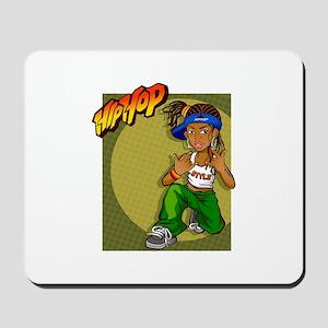HipHop girl yoyo Mousepad