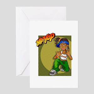 Yoyo greeting cards cafepress hiphop girl yoyo greeting cards m4hsunfo