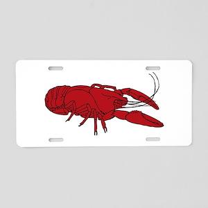 Crayfish Aluminum License Plate