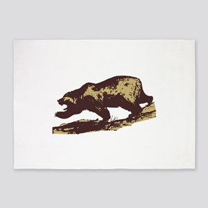 Attacking Bear 5'x7'Area Rug