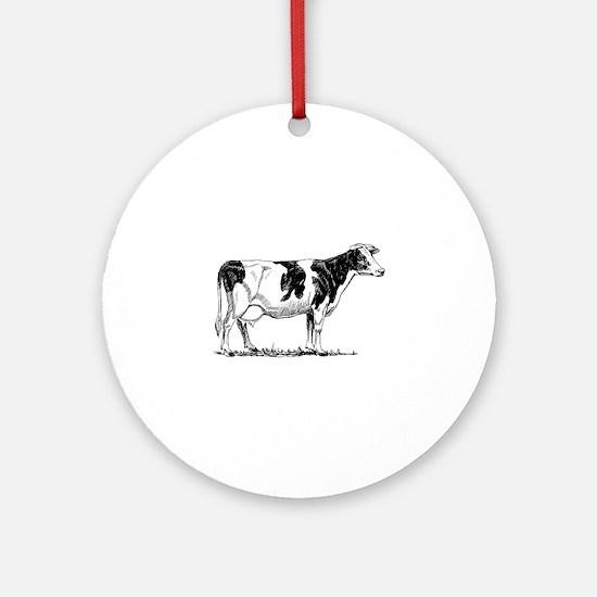 Holstein cow Round Ornament