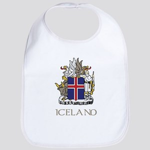 Coat of Arms of Iceland Baby Bib