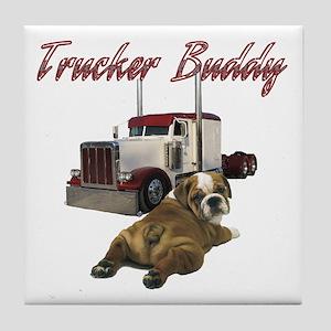 Trucker Buddy Tile Coaster