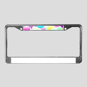 Bubble Eggs Light License Plate Frame