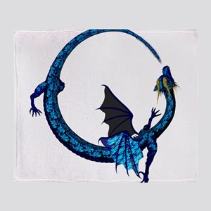 winged ribbon dragon 2 Throw Blanket