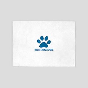 English Springer Spaniel Dog Design 5'x7'Area Rug