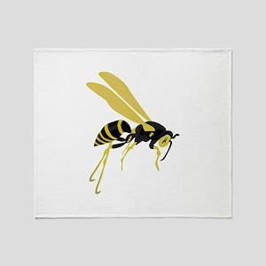 Flying Wasp Throw Blanket