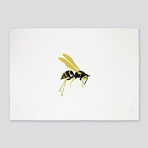Flying Wasp 5'x7'Area Rug