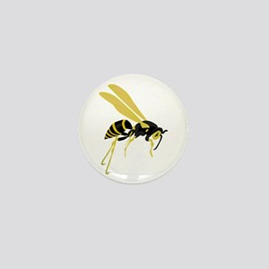 Flying Wasp Mini Button