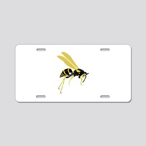 Flying Wasp Aluminum License Plate