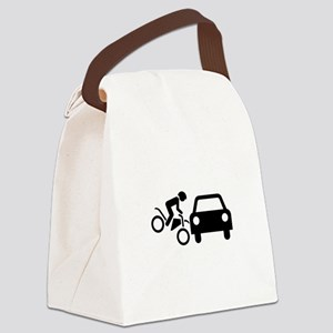 Motorcycle accident compensation Canvas Lunch Bag