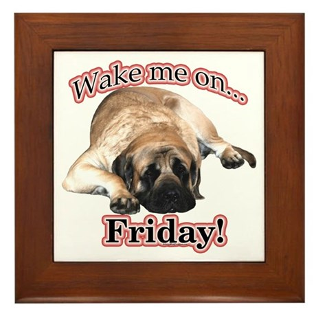 Mastiff Friday Framed Tile