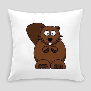 Cartoon Beaver Everyday Pillow