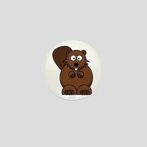 Cartoon Beaver Mini Button