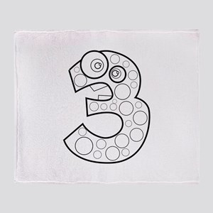 Animal Number Three Lineart Throw Blanket