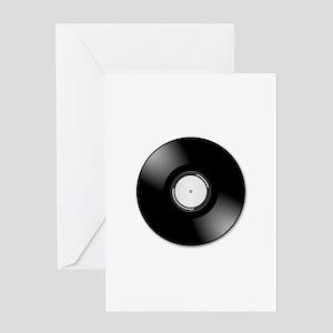 Vinyl disc record Greeting Cards