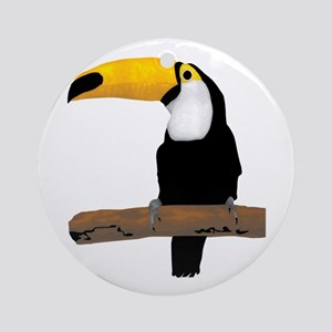 Toucan on twig Round Ornament