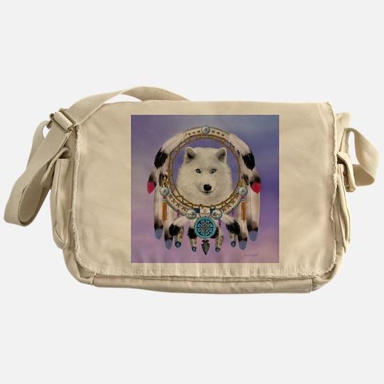 Native American Wolf Spirit Messenger Bag