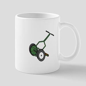 Cartoon Push Reel Lawn Mower Mugs