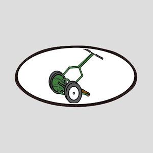 Cartoon Push Reel Lawn Mower Patch