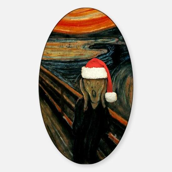 Scream Santa Oval Decal