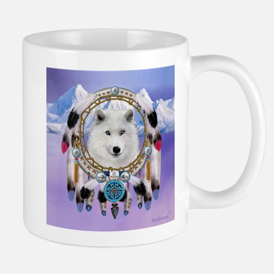 Native American Wolf Spirit Mugs