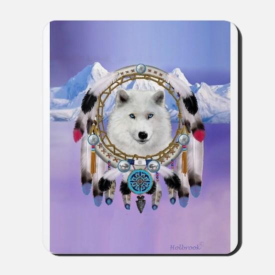 Native American Wolf Spirit Mousepad