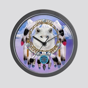 Native American Wolf Spirit Wall Clock