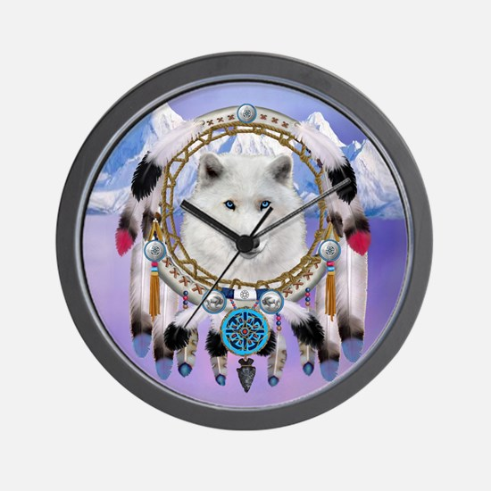 Native American Wolf Spirit Wall Clock