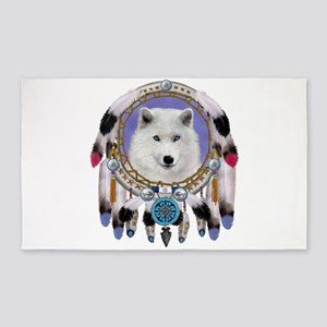 Native American Wolf Spirit Area Rug
