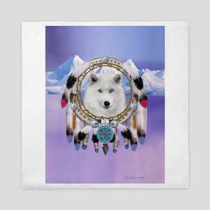 Native American Wolf Spirit Queen Duvet