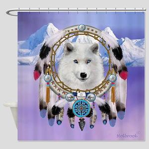 Native American Wolf Spirit Shower Curtain