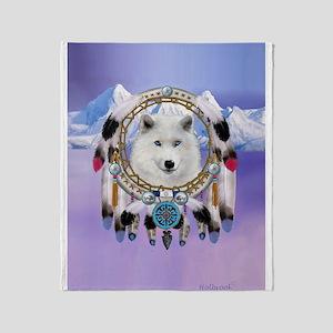 Native American Wolf Spirit Throw Blanket