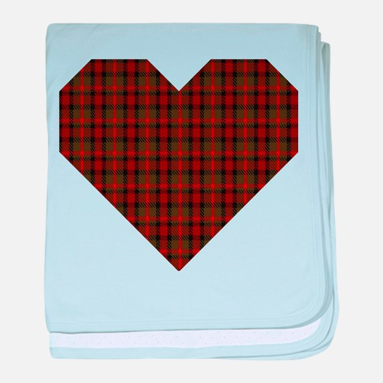 Bruce Hunting Geo Heart baby blanket