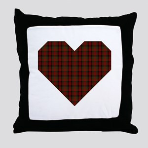 Bruce Hunting Geo Heart Throw Pillow