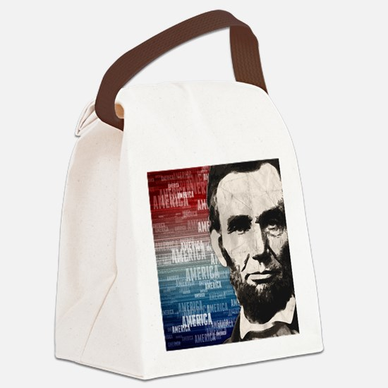 Patriot Abraham Lincoln Canvas Lunch Bag
