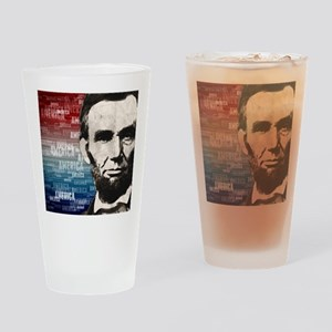 Patriot Abraham Lincoln Drinking Glass