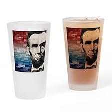 Patriot Abraham Lincoln Drinking Glass