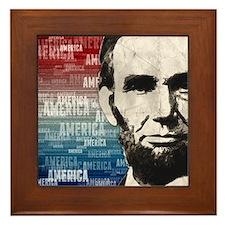 Patriot Abraham Lincoln Framed Tile