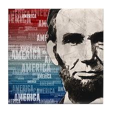 Patriot Abraham Lincoln Tile Coaster