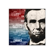 Patriot Abraham Lincoln Square Sticker 3