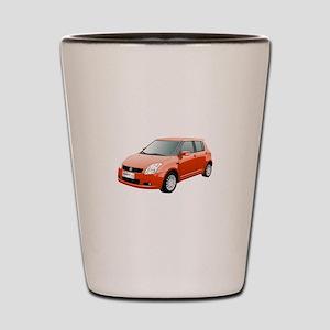 Red swift car Shot Glass