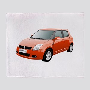 Red swift car Throw Blanket