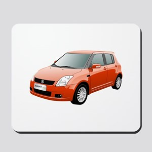 Red swift car Mousepad