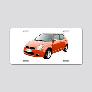 Red swift car Aluminum License Plate