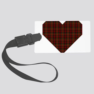 Bruce Hunting Geo Heart Large Luggage Tag