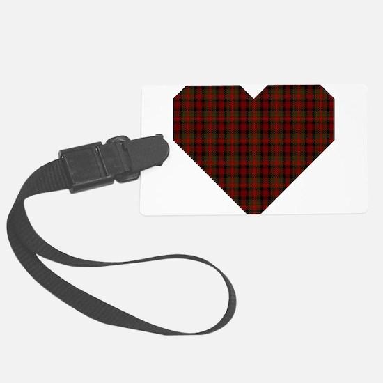 Bruce Hunting Geo Heart Luggage Tag